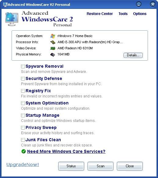 advanced windowscare v2 personal gratis